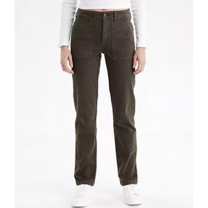 NWOT AEO High Waisted Utility Pants Willow Green